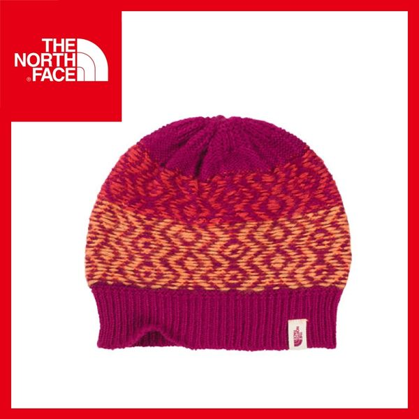 【The North Face 編織保暖帽《紫紅/瓜紅》】CLM8/毛帽/戶外/休閒/賞雪