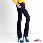 BRAPPERS 女款 新美腳Royal系列-彈性CH鑲鑽直筒褲-深藍