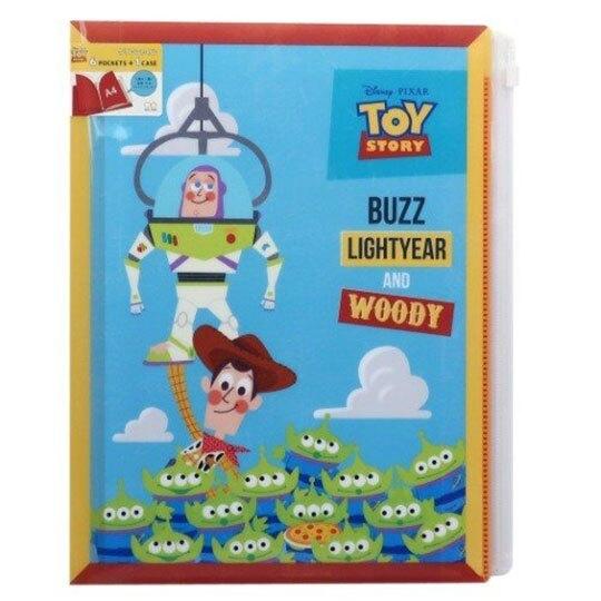 〔小禮堂〕迪士尼 玩具總動員 雙開式文件夾《藍綠.夾娃娃》檔案夾.資料夾.L夾 4901770-60967