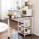 廚房置物架微波爐落地架廚房電器層架收納儲物架碗架架 xw 【快速出貨】