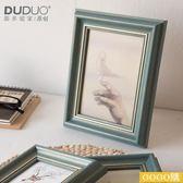 美式鄉村復古做舊 創意擺臺相框 畫框像框 多種風格 6寸
