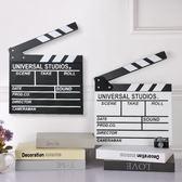 攝影道具 木質導演板場記板英文版電影拍打板婚拍攝影道具家居擺件裝飾品 星河光年DF