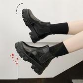 網紅靴子女秋款英倫風超火鬆糕厚底單鞋百搭學生小短靴女鞋子  koko時裝店