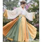 漢服五五年漢服女夏至芒種晉制交領一片式襦裙三件套9米12米裙擺 衣間迷你屋