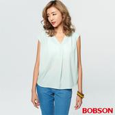 【BOBSON】女款V領拼接針織上衣 (28089-40)