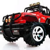 跨年趴踢購超大越野遙控車充電方向盤遙控汽車警車電動小賽車男孩兒童玩具車