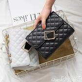 錬條包包包女包2020新款網紅黑色小斜背包女菱格錬條包時尚百搭側背包 小天使