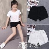 女童白色牛仔短褲薄款夏裝潮兒童2019新款韓版中大童黑色純棉熱褲   米娜小鋪
