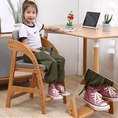 兒童書桌椅 實木兒童學習椅可升降椅子小學生矯正坐姿座椅靠背餐椅家用寫字椅【八折搶購】