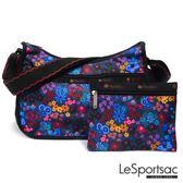 LeSportsac - Standard側背水餃包/流浪包-附化妝包 (愛麗絲花園) 7520P F033