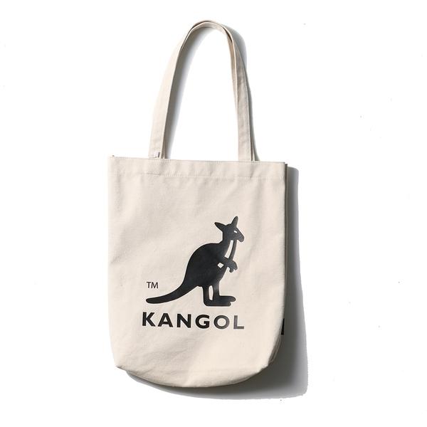 KANGOL 大袋鼠LOGO 米色 帆布 托特包 布包 (布魯克林) 6025301601