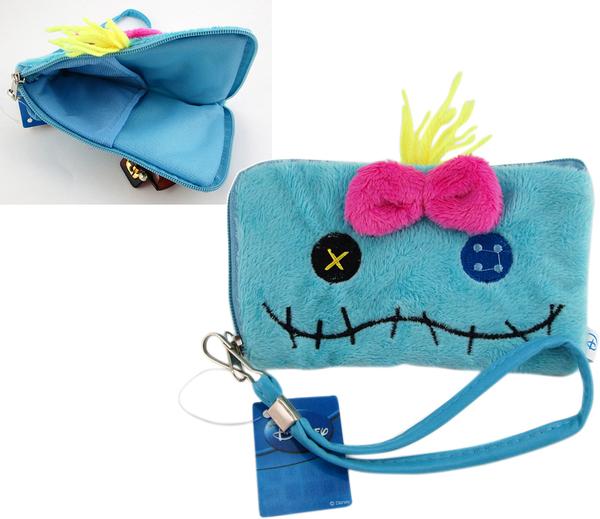 【卡漫城】 醜丫頭 手機套 單面 ㊣版 Stitch 史迪奇 Scrump 零錢包 MP3 收納 絨毛 票卡包 星際寶貝