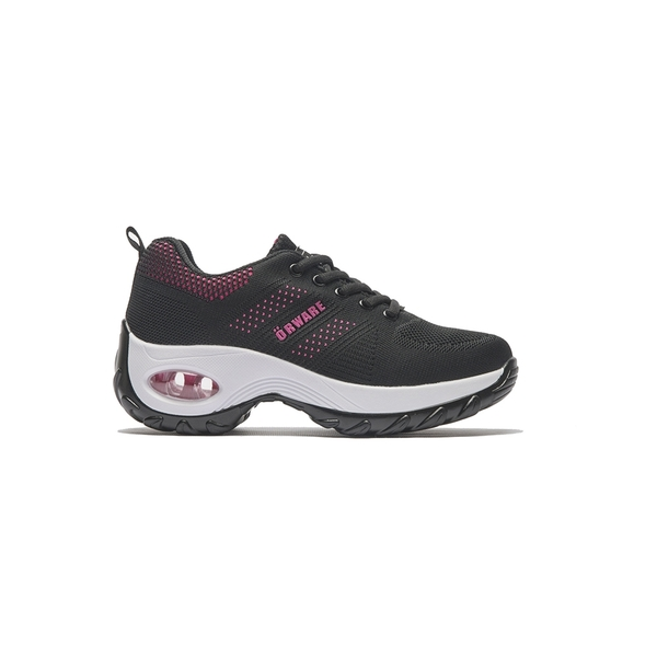 ORWARE-彈力氣墊針織休閒鞋352027-02黑