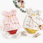 典雅花朵無袖兩件式套裝 套裝 童裝