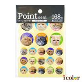 icolor 圓形貓咪重點貼紙