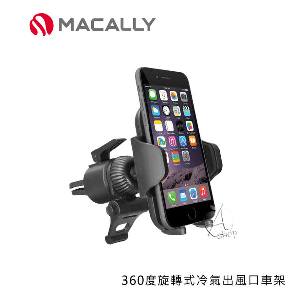 【A Shop】 MACALLY 360度旋轉式冷氣出風口車架 (VENT1) for iPhone 6/6 plus/5/5S/ Samsung/ HTC