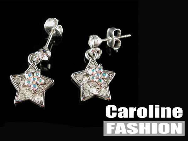 《Caroline》★奧地利施華洛世奇水晶時尚耳環17107