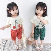 女寶寶夏裝新款小童短袖套裝一歲半兩歲三歲多超洋氣女童夏裝(聖誕新品)