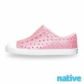 【南紡購物中心】【native】大童鞋 JEFFERSON 小奶油頭鞋-星鑽粉x貝殼白