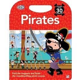 【磁鐵書: 海盜】PIRATES / 磁力書+30個磁鐵