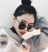 新款墨鏡女韓國個性圓臉GM太陽鏡ins網紅同款偏光太陽眼鏡潮 流行花園