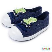 PIMPOLHO 恐龍樂園洞洞小童鞋-藏藍