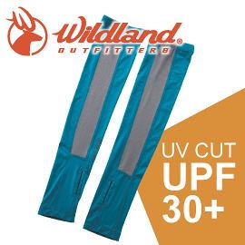 【Wildland 荒野 中性開洞抗UV透氣袖套 《土耳其藍》】W1801/春夏款/抗UV/防曬袖套