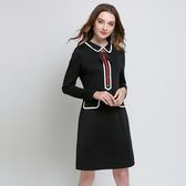 中大尺碼~簡約袖口長袖洋裝(L~5XL)