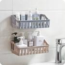 浴室置物架 衛生間浴室壁掛免打孔收納架廁所洗手間馬桶墻上塑料三角架【快速出貨八折下殺】