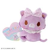 小禮堂 甜夢貓 迷你絨毛玩偶 玩偶萬用夾 夾式玩偶 娃娃夾子 (紫 2021角色大賞) 4550337-61006