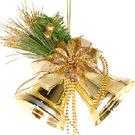 聖誕 裝飾 佈置 4吋聖誕鈴鐺1入-金