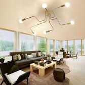 HONEY COMB 工業風火線幾何吸頂燈 雙色款 6光源 黑色 TA8014