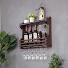 歐式鐵藝酒架壁掛紅酒架墻上置物架創意裝飾餐廳紅酒柜《微愛》