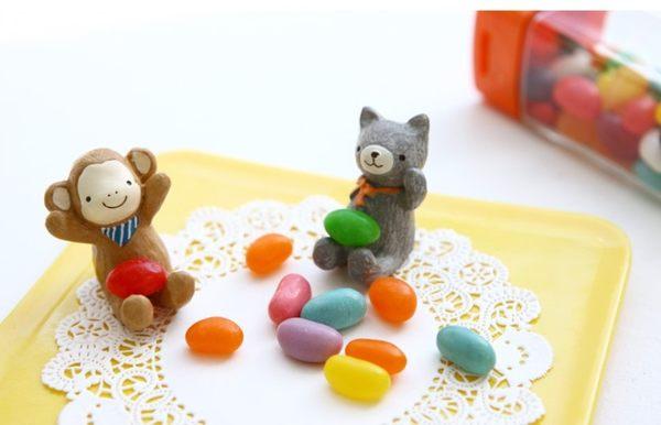 治癒系 仰望天空小動物擺件迷你版 樹脂擺飾配件 想購了超級小物