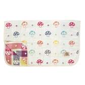 Hoppetta 日本製六層紗被子-蘑菇白(M號) 0-3歲 | 寢具用品(初生嬰幼兒/新生兒/兒童)