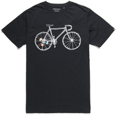 Deus Ex Machina  One Speed Tee T恤 騎士衝浪品牌- (黑)