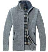 秋冬新款毛衣 開衫外套 男士加絨加厚立領針織開衫 男士裝保暖百搭上衣 時尚男款冬季保暖外套