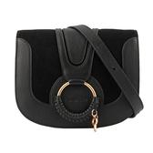 【SEE BY CHLOE】HANA bag 小型麂皮皮革斜背包(黑色) CHS18AS896417 001