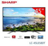【佳麗寶】留言享加碼特價-(SHARP 夏普)液晶連網電視-45型『LC-45LE580T』