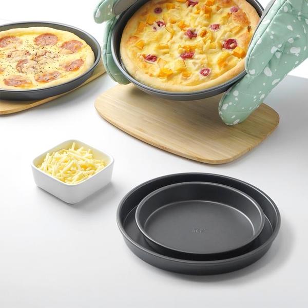 烘焙模具 糕點蛋糕模具 披薩盤餅底烤盤68寸pizza盤烤箱用蛋糕模具家用烘焙工具