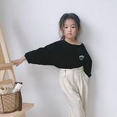 兒童竹節棉上衣 兒童長袖t恤春秋新款男童女童上衣竹節棉洋氣寶寶打底衫寬鬆休閒T-Ballet朵朵