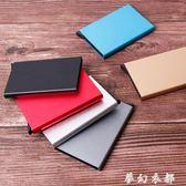 信用卡盒 自動卡盒銀行信用卡自動彈出超薄創意金屬名片盒防盜刷消磁收納盒 夢幻衣都