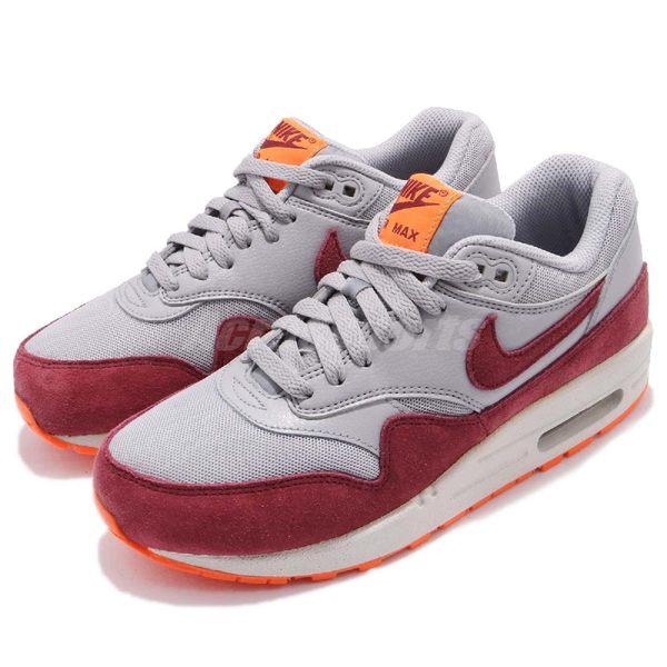 【五折特賣】Nike 復古慢跑鞋 Wmns Air Max 1 Essential 灰 藍 麂皮 奶油底 運動鞋 女鞋【PUMP306】 599820-015