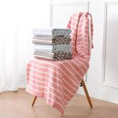 居家家 雙層柔軟浴巾成人洗澡巾 情侶布藝棉絨條紋吸水大毛巾薄款