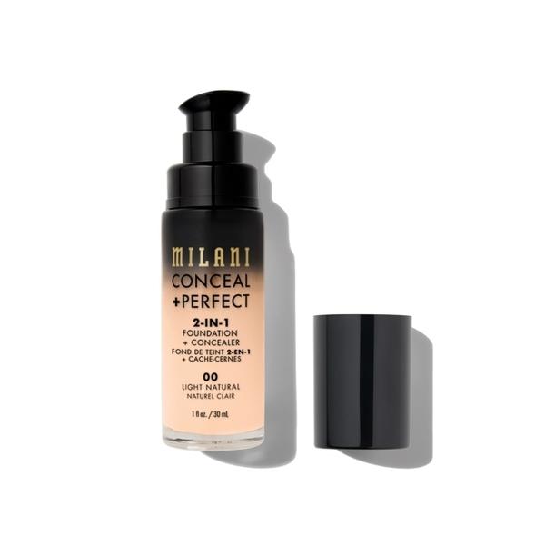 Milani Conceal + Perfect 完美零瑕二合一遮瑕粉底液 00 Light Natural 30ml