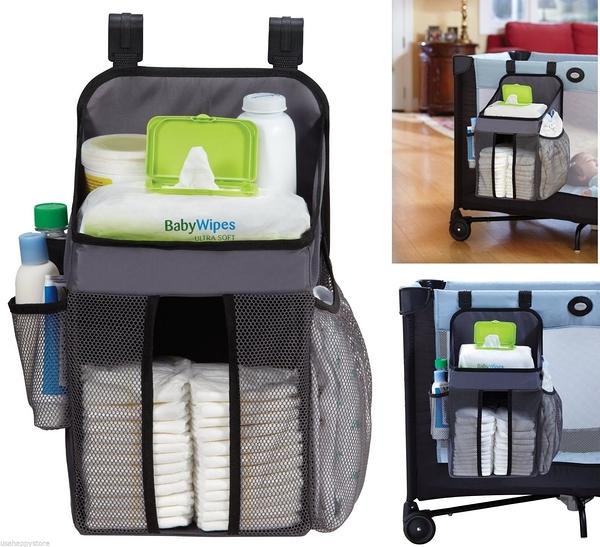美國 新款 Dex Baby Nursery Organizer 尿布收納袋/置物袋 (灰色)