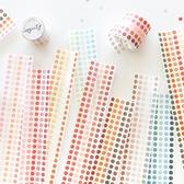 【BlueCat】實用5色圓點和紙貼紙 手帳貼紙 膠帶