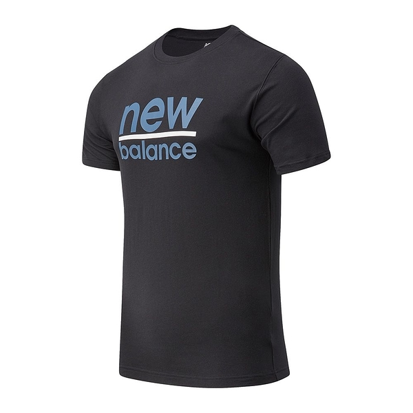 New Balance Classic Split 男裝 短袖 休閒 基本款 LOGO 黑【運動世界】MT11905BK