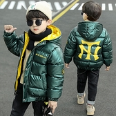 兒童棉服男 男童棉服2021新款加絨加厚中大童洋氣冬裝外套兒童羽絨棉衣【快速出貨八折下殺】