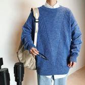 針織外套加大碼圓領套頭加厚打底毛衣男士潮流休閒商務針織衫外套